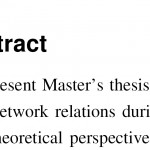 Writing masters thesis abstract