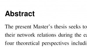 Masters thesis abstract
