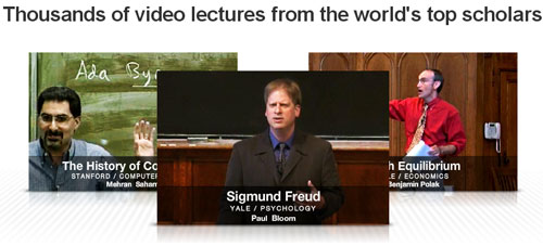 Thousands of video lectures from the world's top scholars